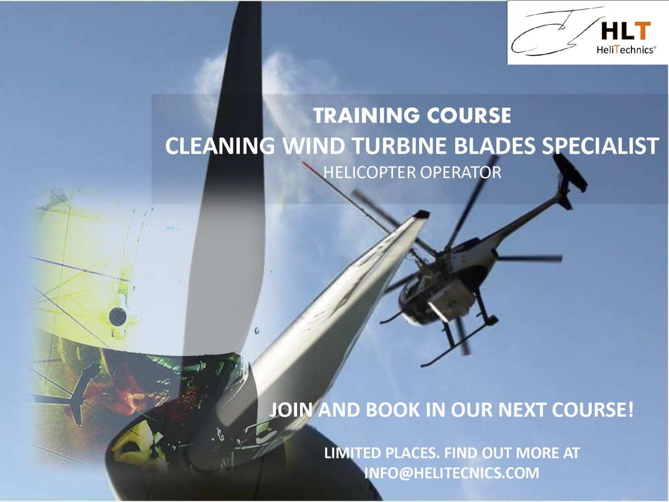 TRAINING COURSE Cleaning Wind Turbine Blades